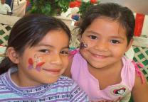 Children with Butterfly & ladybug face paints