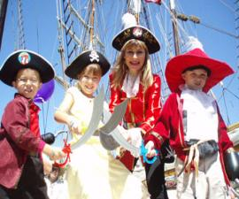 Julia Gayle entertaining children with pirate activities