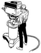 cartoon image of television studio camera and cameraman