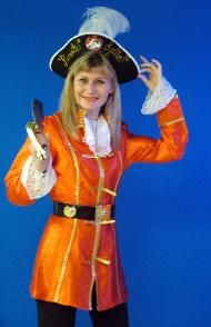 Julia Gayle as a pirate